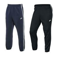 Nike Mens Tribute Track Pants Black Navy Blue Cuffed Tracksuit bottoms