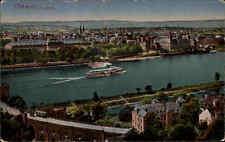 1917 Feldpostkarte aus Coblenz Koblenz Rhein Schiff Feldpost gel. nach Derschlag