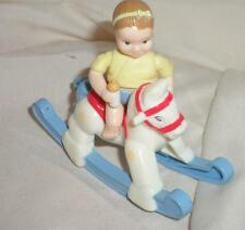 Loving Family Nursery Rocking Horse Baby Girl VHTF Fisher Price