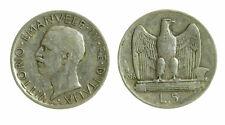 pci4648) Vittorio Emanuele III  (1901-1943) - 5 Lire Aquilino 1928 *