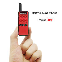 Mini Walkie Talkie Two Way Radio EASYTALK M3 16CH FRS GMRS UHF 400-520MHz, Red