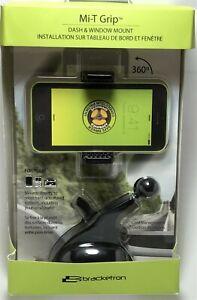 Bracketron - Mi-T Grip Desk/Dash Mount for Most Cell Phones - Black