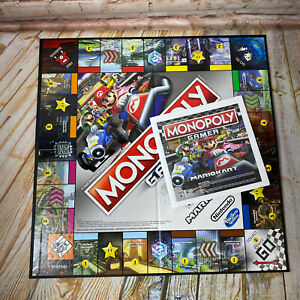 Monopoly Gamer MarioKart Replacement Parts Game Board & Instructions Only EUC
