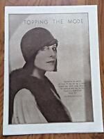 1925 Fashion Article Ad  Hats