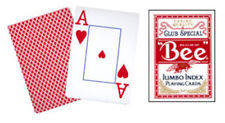 Cards Bee Poker Jumbo Index (Red) from Murphy's Magic