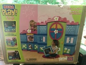 Mega Bloks Mega Play Victorian My Own Home House Blocks Life Sz Bedroom Outdoor