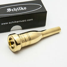 Genuine Schilke 18H Heavyweight 24K Gold Trumpet Mouthpiece NEW