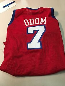 LAMAR ODOM #7 CLIPPERS AUTHENTIC RED CHAMPION VINTAGE NBA JERSEY FREE SHIPPING