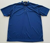 New Blue Generation Men's Short Sleeve Polo Shirt XL Solid Blue Polyester Collar