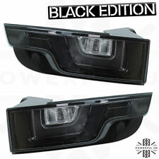 Black LED rear lights for RangeRover Evoque smoked tinted back tail lamps lens