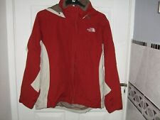 WOMEN'S THE NORTH FACE  HOODED RUST/CREAM HY-VENT JACKET SIZE L/G 14
