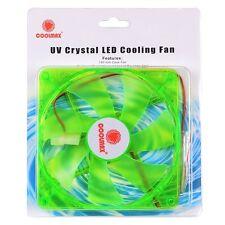 Coolmax CMF-1425-GN UV Reactive 4-Green LED Case Fan w/4-Pin 140mm (Green) NEW