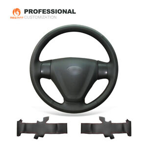DIY Leather Steering Wheel Cover for Hyundai Accent Getz (Facelift) Kia Rio Rio5