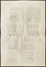 Plan ancien d'usine à gaz et gazogènes. 1909, Génie civil
