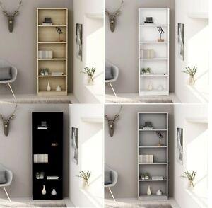 60x24x175 cm 5-Tier Minimalist Book Shelf Wide Bookcase Storage Cabinet Display