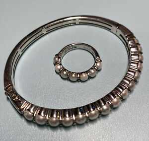 Ti Sento Milano 925 pearl sterling silver ring and bracelet set