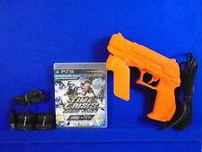 ps3 TIME CRISIS Razing Storm + 4 ** + G-CON 3 GUN + Sensor Bars Namco PAL