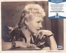 Gilda Gray (d.1959) Signed 1942 8x10 Photo Autographed Photograph BECKETT BAS