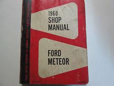1960 Ford & Meteor Service Shop Repair Workshop Manual CDN Factory OEM Book Used