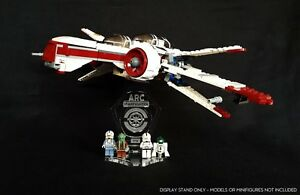Display stand angled 3D + slots for Lego 8088 & 7259 ARC-170 Starfighter