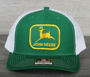 Vintage John Deere Green Patch on a Richardson 112 Trucker Hat