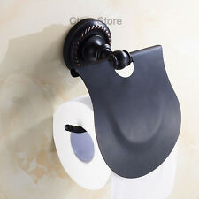 Oil Rubbed Bronze Roll Toilet Holder Bathroom Wall Mounted Tissue Paper Bracket