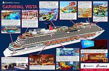 Carnival Cruise Ship Vista (description) POSTER 24 X 36 Inches Looks beautiful