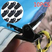 10 Pcs Camping Awning Fly Tarp Tarpaulin Clip Clamp Tent Nylon Plastic Safety