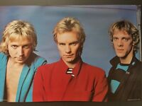 THE POLICE POSTER 1980 PACE MINERVA ORIGINAL STORED AWAY NEVER DISPLAYED STING