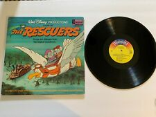 Vintage Walt Disney Productions Story of the Rescuers Record and Book