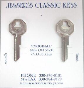 GM BUICK  B-10 B-10 Briggs & Stratton Original Nickel Keys B&S 1936-1966 NOS