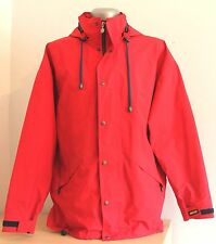 Mens TERINIT Finland GORE TEX Jacket Hooded Red Outdoor Trekking Mountain L