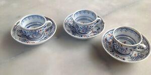 Service à Café de poupée Porcelaine Saxe Meissen ? 3 Tasses