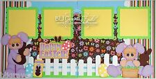 CraftEcafe Premade Scrapbook Page Paper Piecing Easter Bunny BLJgraves 63