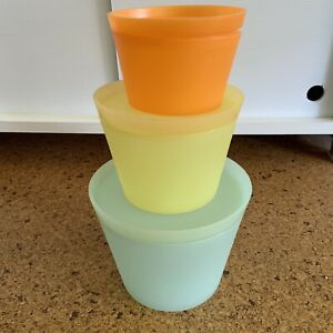 Democratic Design Nesting multicolor food storage containers by Philippe Starck
