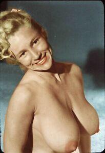 Vint Nude Virginia Bell Posing 99060  35mm Slide