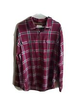 Magellan Outdoors Flannel Button Up Long Sleeve Shirt Size Large L