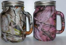 camo redneck mason jar beer mugs