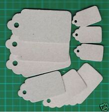 #  Chipboard Sizzix Scallop Combo Tags