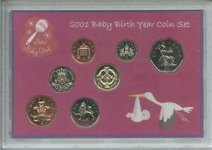 New Born Baby Girl Coin Gift Set 2001 (Parent Mum & Dad Birth Keepsake Present)