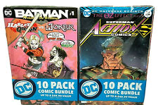 20 DC Comic Book Bundle New 2 - 10 Packs Batman Superman and More