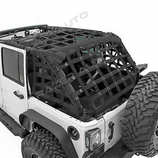 Off Road 4 Door Black Cargo Net System Restraint Net fit 07-18 Jeep Wrangler JK