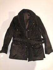 GUCCI Authentic Designer Brown Leather  Mens Coat Jacket Size 54
