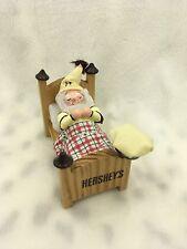 Vintage 1997 Kurt S. Adler Wood Hersheys Figurine Man in Bed  Sleeping