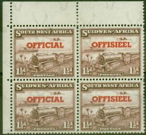 South West Africa 1951 1 1/2d Purple-Brown SG025a Transposed Opt on Bottom Pa...