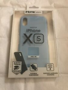 NEW! iHOME SLIM SOFT TOUCH CASE iPHONE X S [BLUE]