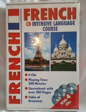 Learn French Intensive Language Course 4 Audio CDs + Course Book+ Grammar Table