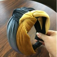 Women Girls Headband Twist Bow Knot Cross Velvet Hair Headwear Hair Hoop Sweet