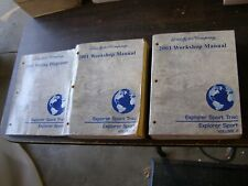 OEM Ford 2001 Explorer Sport + Sport Trac Shop Manual Books + Wiring Diagram nos