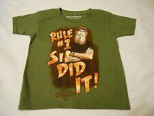Boys Tee Shirt Sz XS 4/5 Duck Dynasty Green Si Did It